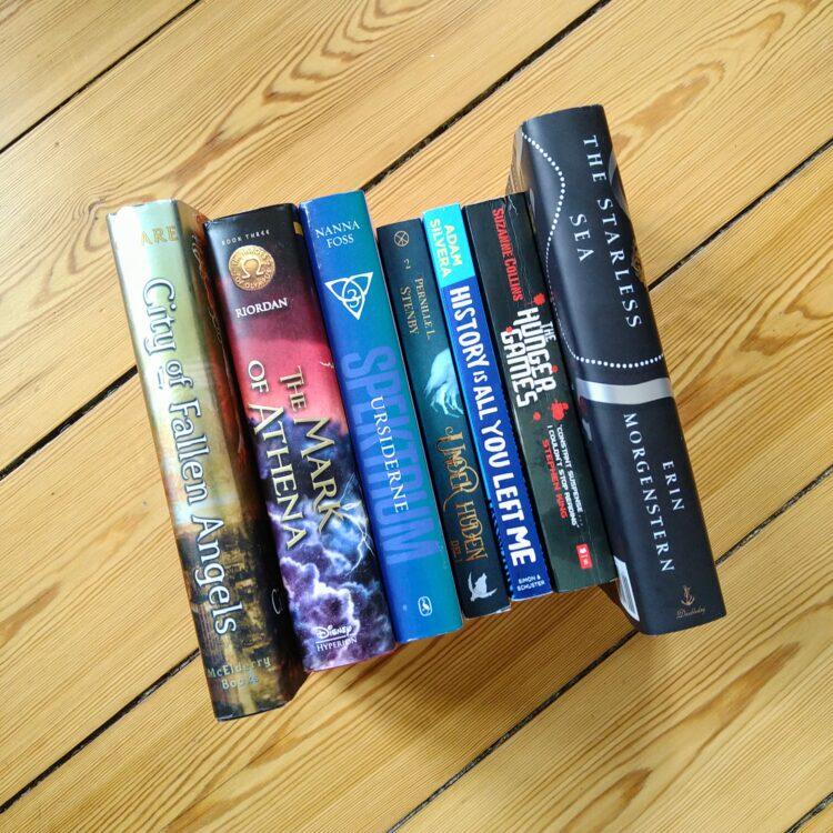 Bookstack blandede bogstak af fantasy og young adult bøger